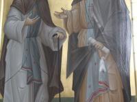 Храмовая икона преподобных Сергия Радонежского и Серафима Саровского